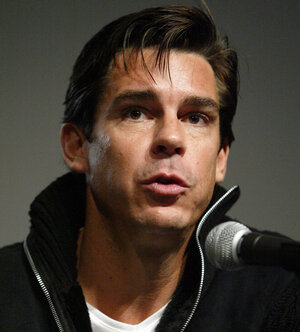 Former professional baseball player Billy Bean speaks on Variety's Gay Hollywood Panel in West Hollywood in 2004. As a pro athlete, Bean kept his sexual orientation a secret.