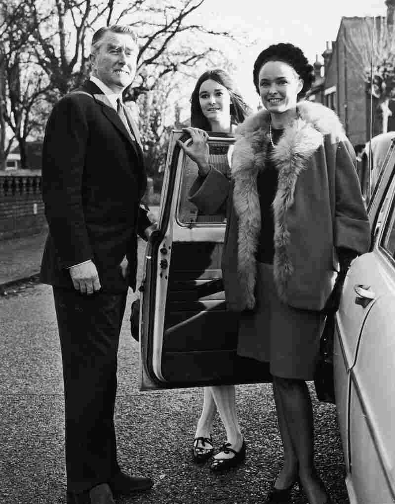 British pirate radio broadcaster Paddy Roy Bates with his wife, Joan, and daughter, Penny, in 1966.