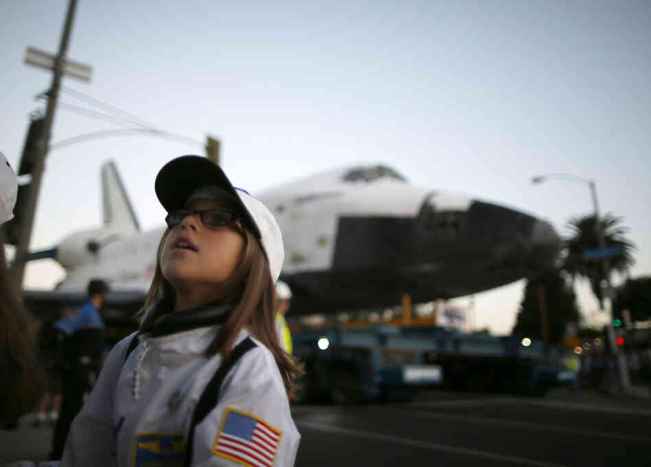 It took nearly a year to plan the Endeavour's laborious shuffle through city streets.