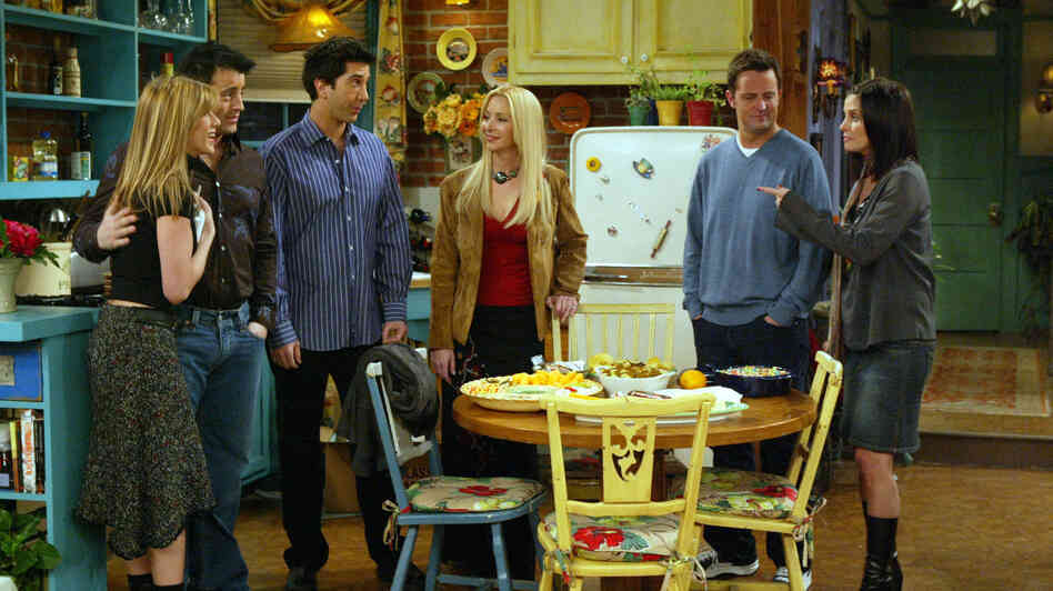 From Friends: Jennifer Aniston, Matt LeBlanc, David Schwimmer, Lisa Kudrow, Matthew Perry and Courteney Cox. But you knew that.
