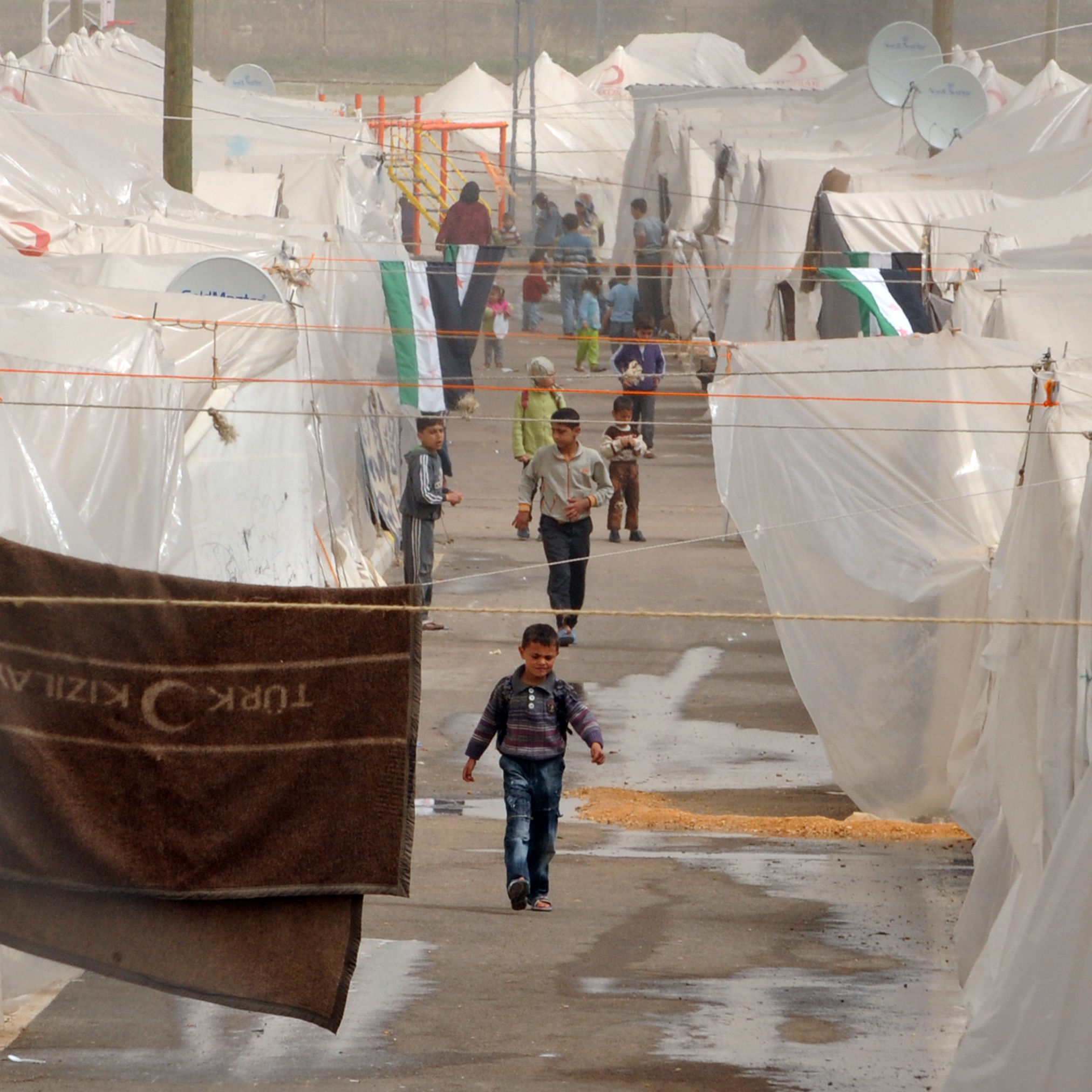 Syrian refugees are seen in the Hacipasa Refugee Camp in Antakya, near the Syrian border, on March 13.