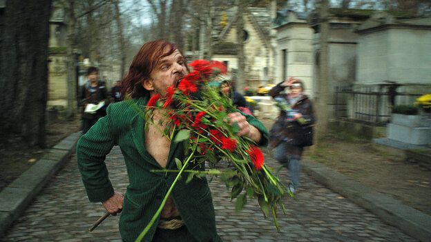 Monsieur Oscar (Denis Lavant) becomes many different characters over the course of Holy Motors.