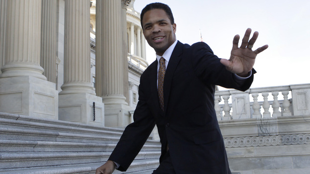Rep. Jesse Jackson, Jr., D-Ill., on the steps of the U.S. Capitol in December 2011. (Reuters /Landov)