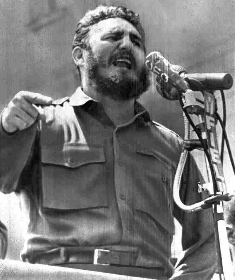 Castro, speaking in Havana on April 16, 1961. A day later, a force of Cuban exiles — trained, financed and commanded by the CIA — land at Playa Giron in the Bay of Pigs, hoping to incite a popular uprising against Castro's government.
