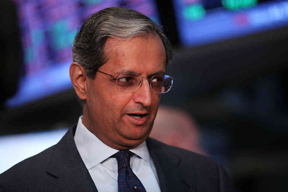 Vikram Pandit on the floor of the New York Stock Exchange on in June.