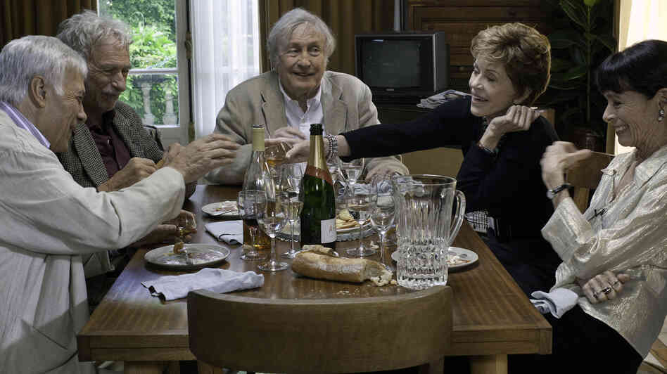 Five friends decide to move in together as an alternative to retirement-home living in the French-language dramedy All Together.