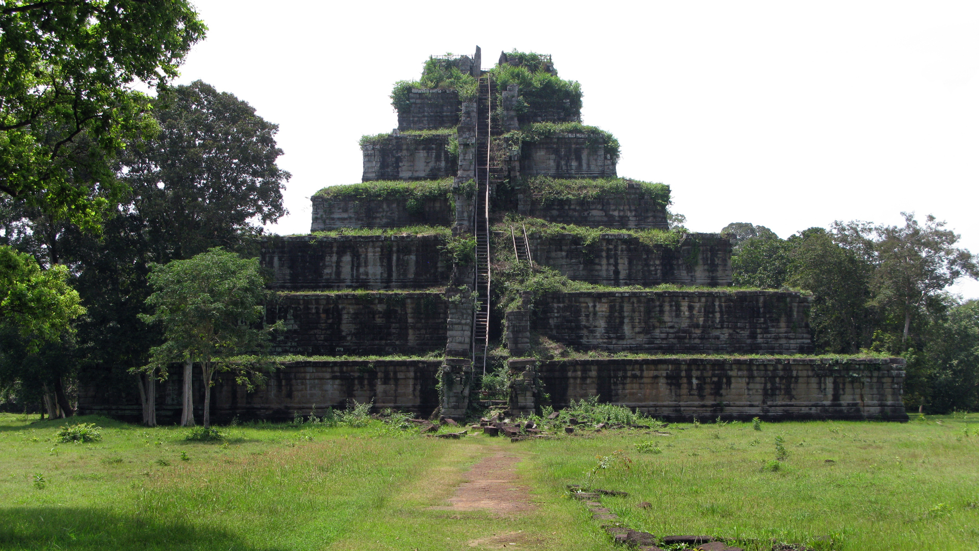 King Jayavarman IV built this pyramid-shaped monument at the center of his capital at Koh Ker in northern Cambodia in the 10th century. The ruler of the Khmer empire died two decades later, and the capital was abandoned and swallowed by the jungle.