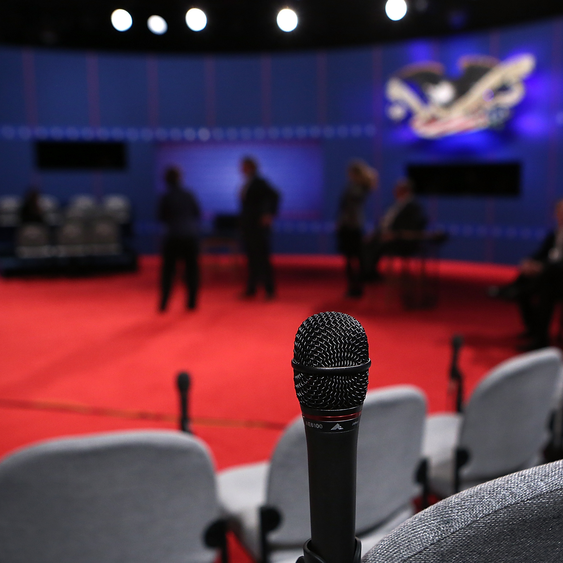 The members of the audience at tonight's town hall-style debate will be 82 voters who say they aren't committed to either candidate. Microphones are ready because the questions will be coming from the audience.