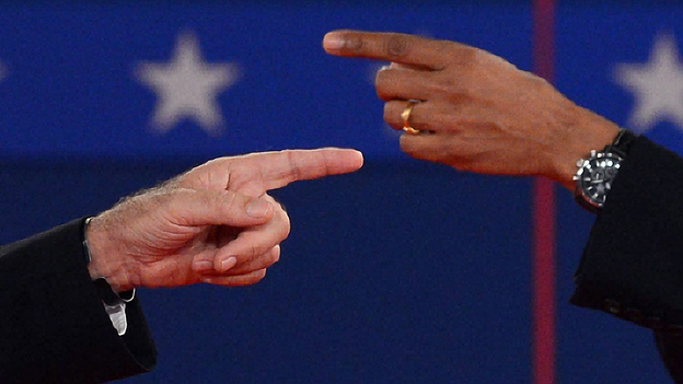 Pointed Words, Pointed Fingers As Obama And Romney Have Fiery Debate