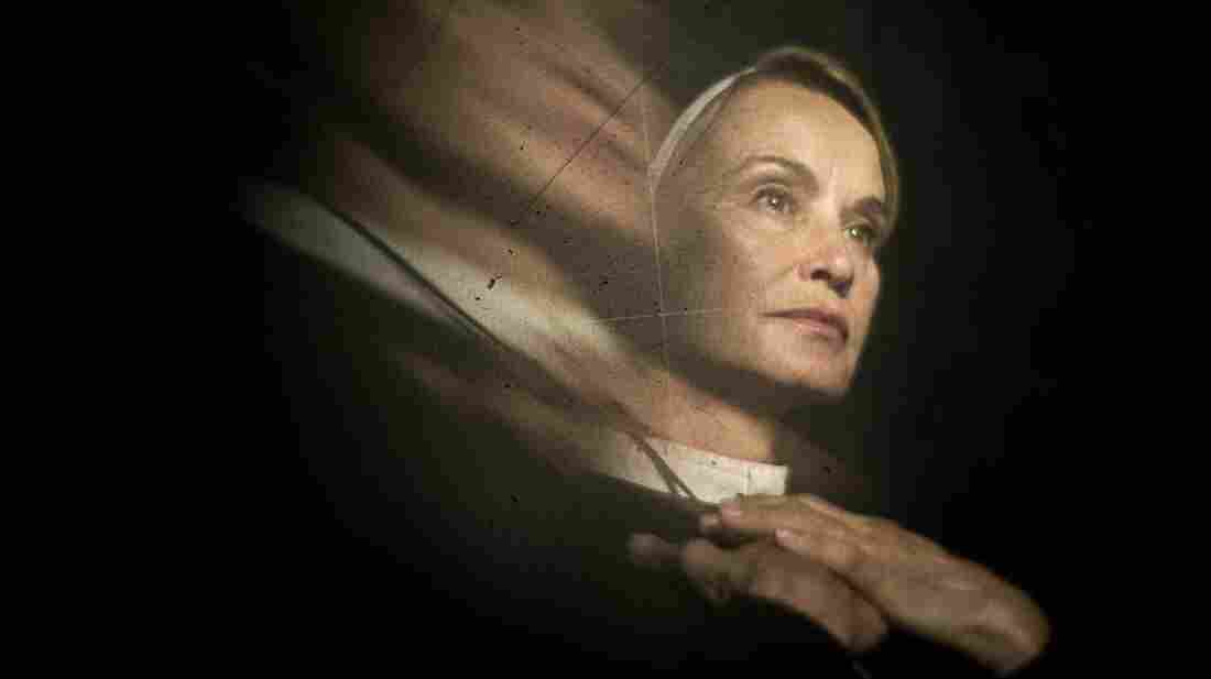 Jessica Lange plays Sister Jude, a stern nun running an insane asylum, in the second season of American Horror Story.