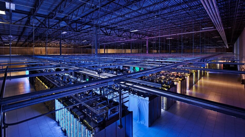 Google's data center in Council Bluffs, Iowa, houses servers in over 115,000 square feet of space. (Google)