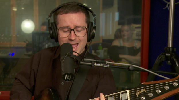 Hot Chip performs on KCRW. (KCRW.com)