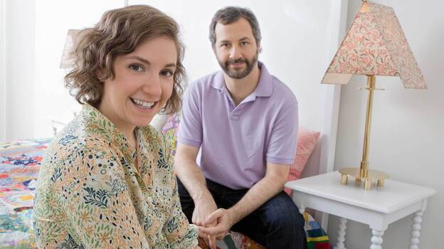 Lena Dunham and Judd Apatow appear on tonight's episode of Iconoclasts on the Sundance Channel. (Sundance Channel)