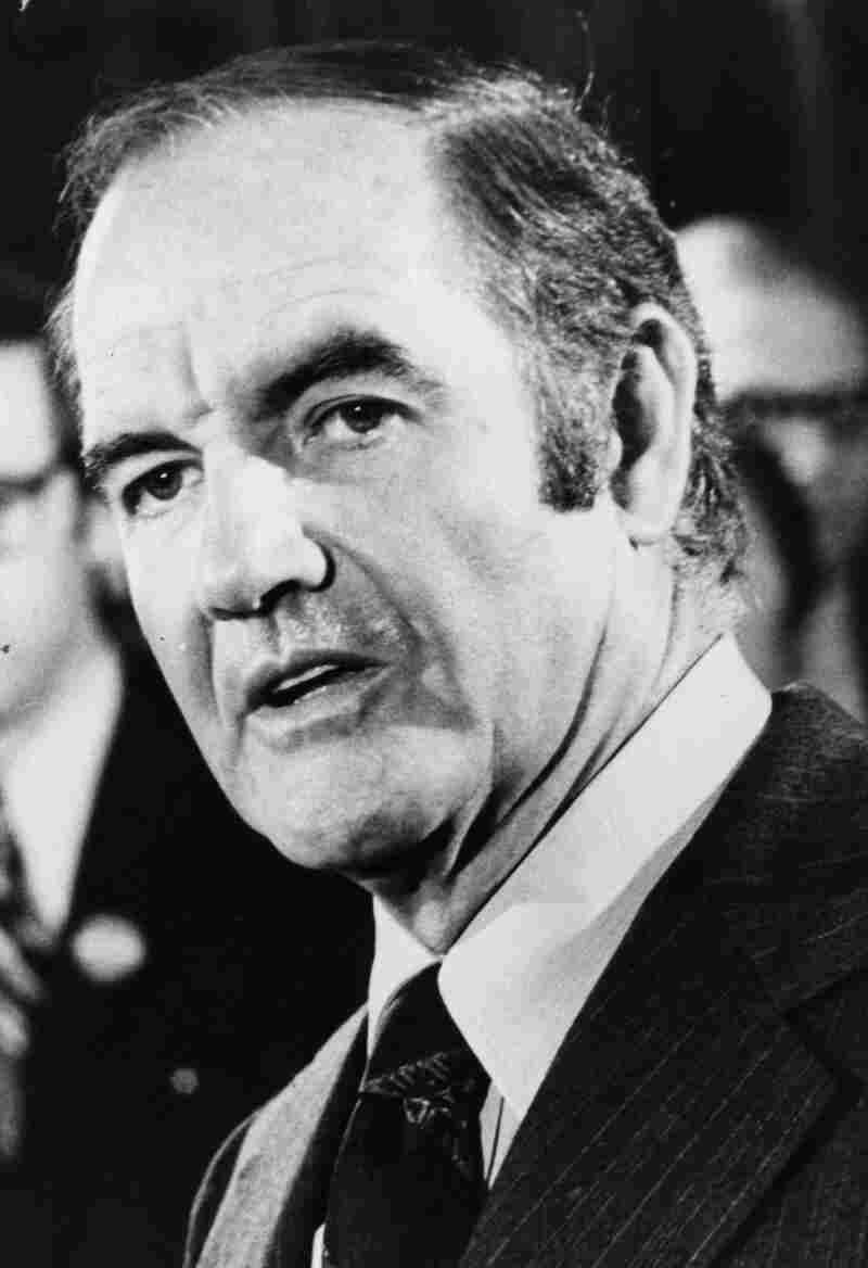 Then-Sen. George McGovern in 1972, when he was running for president.