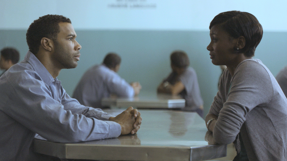 When her husband, Derek (Omari Hardwick), is sent to prison, Ruby (Emayatzy Corinealdi) must decide whether to wait for him or move on. (Participant Media)