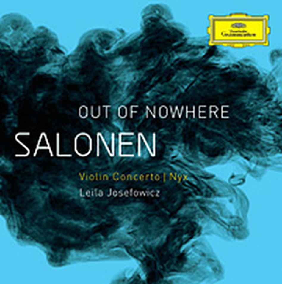 Cover art for Esa-Pekka Salonen's new album, Out of Nowhere. (DG)