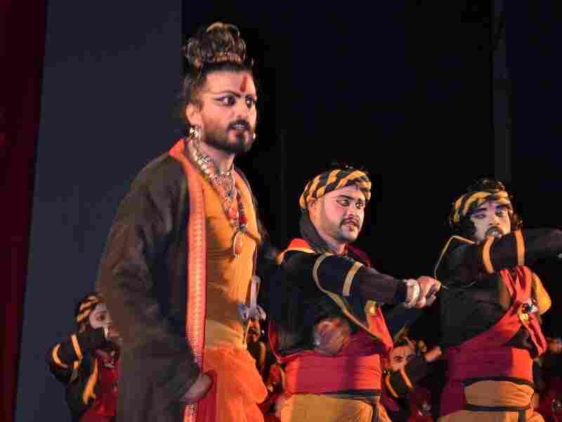 Nigel Akkara plays Ratnakar the Bandit in the dance drama Valmiki Pratibha.