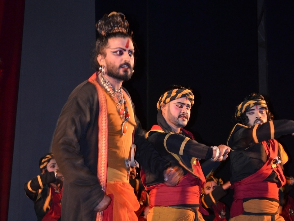 Nigel Akkara plays Ratnakar the Bandit in the dance drama Valmiki Pratibha. (Courtesy of Nigel Akkara)
