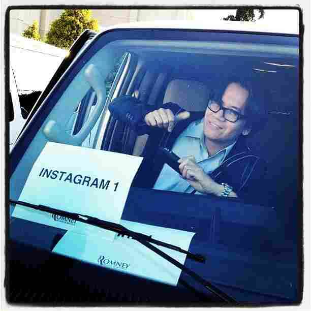 Instagrammer extraordinaire @charlesdharapak rides shotgun in Instagram 1 in Harrisonburg, VA. @sullyfoto