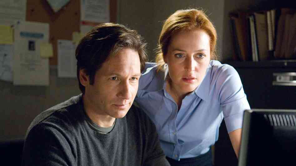 David Duchovny, left, and Gillian Anderson in the film The X-Files: I Want to Believe.