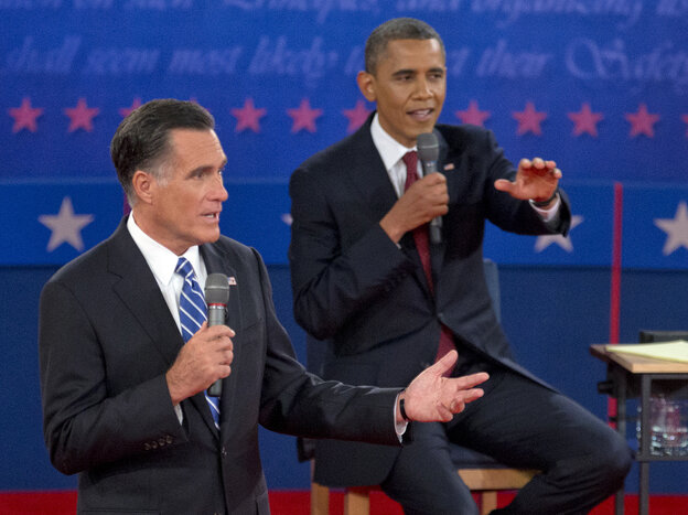 President Obama and GOP presidential nominee Mitt Romney sparred over birth control, among other things, at