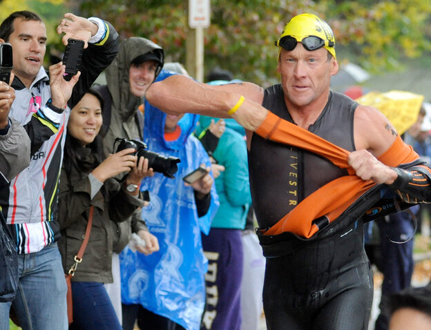 Lance Armstrong competes in the Rev3 Half Full Triathalon Sunday in