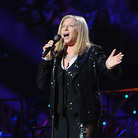 Barbra Streisand on stage at the Barclays Center in Brooklyn on October 11, 2012