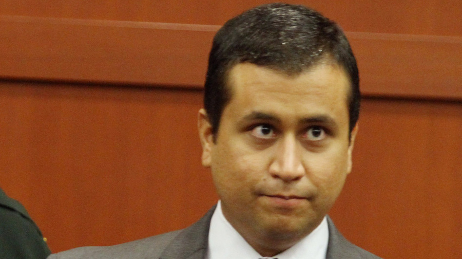 George Zimmerman, who is charged with second-degree murder in the death of Trayvon Martin, at a court hearing last June in Seminole County, Fla. (Getty Images)