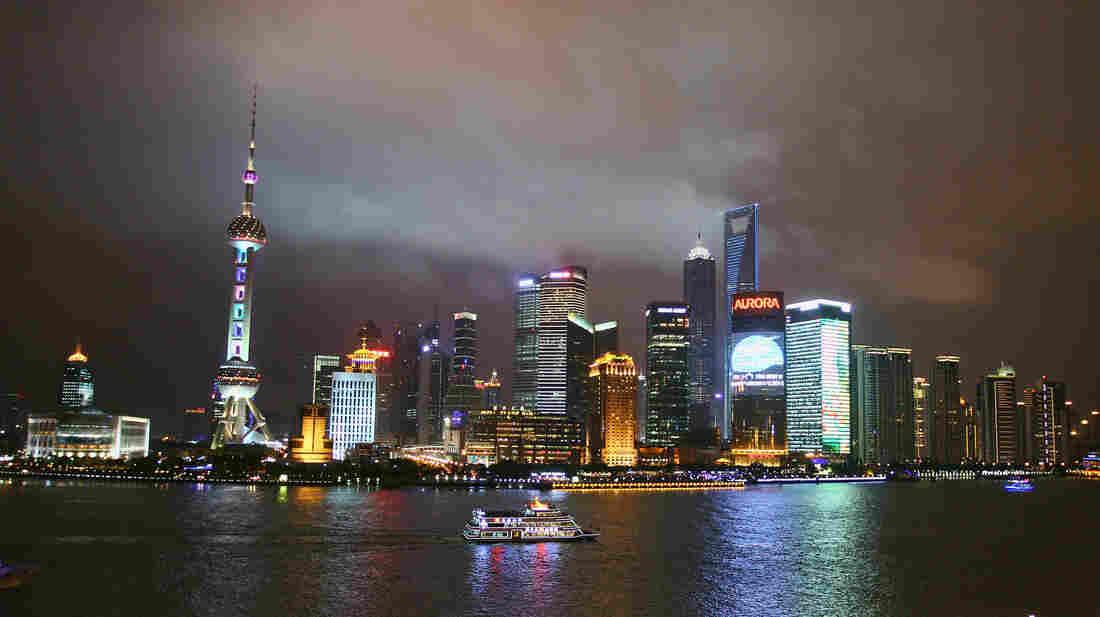 The Shanghai skyline