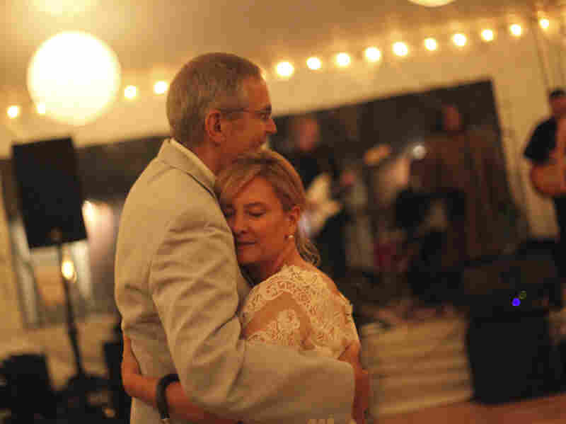Marcela Gaviria dances with her orthopedic doctor, Dempsey Springfield, at her wedding in June 2012, some 30 years after he performed her first surgery.