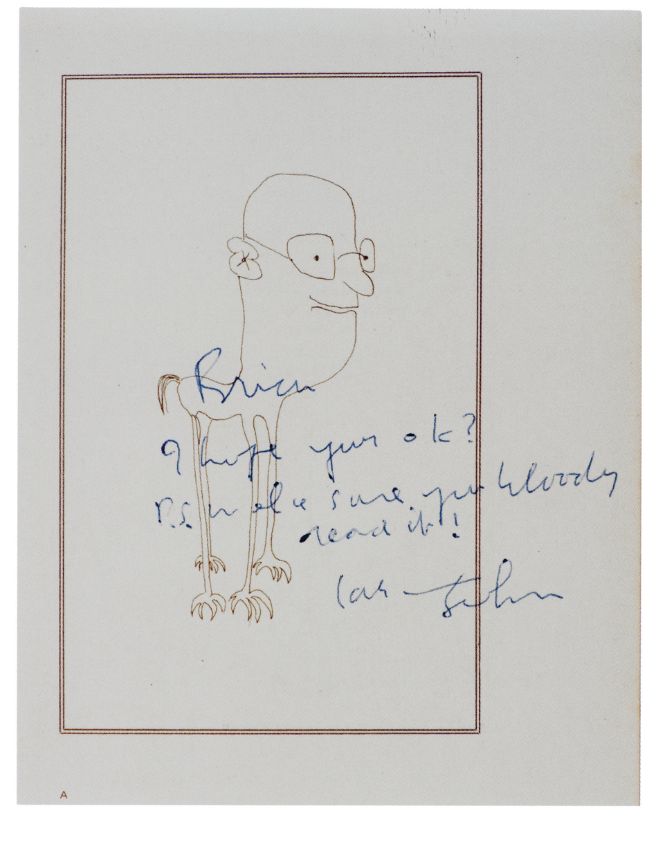 Book inscribed to Brian Epstein, 1965 (Little, Brown and Co.)