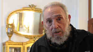 Former Cuban President Fidel Castro in March, when Pope Benedict XVI visited Havana.