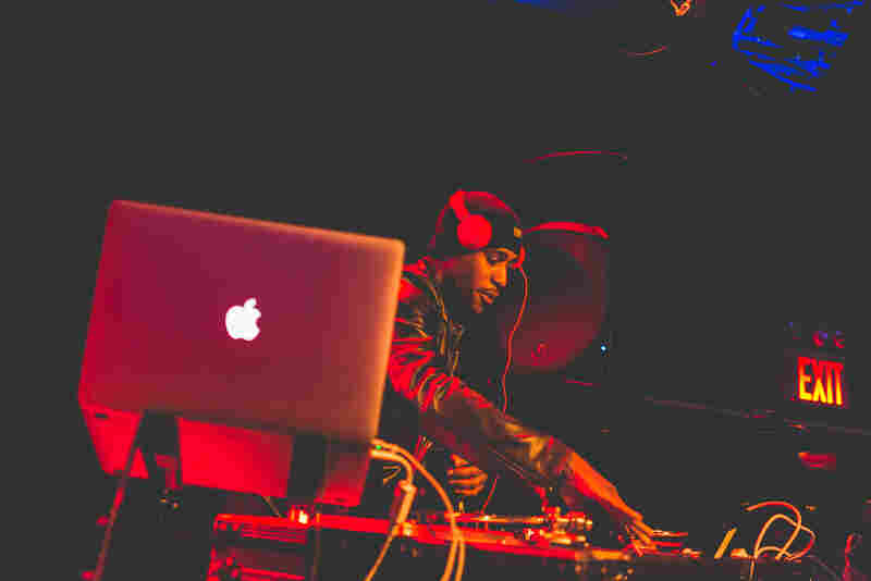 Ali Shaheed Muhammad of A Tribe Called Quest (and NPR Music's hip-hop stream, Microphone Check) DJs between sets at (Le) Poisson Rouge.