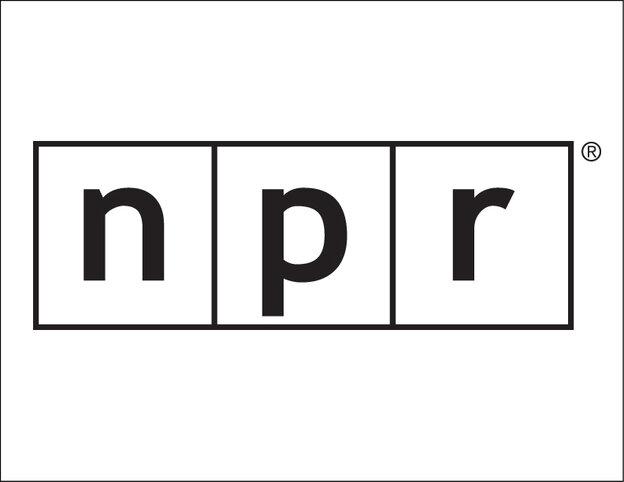 NPR line logo stencil.
