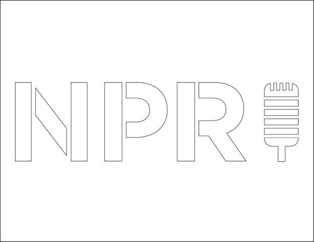 NPR mic stencil.