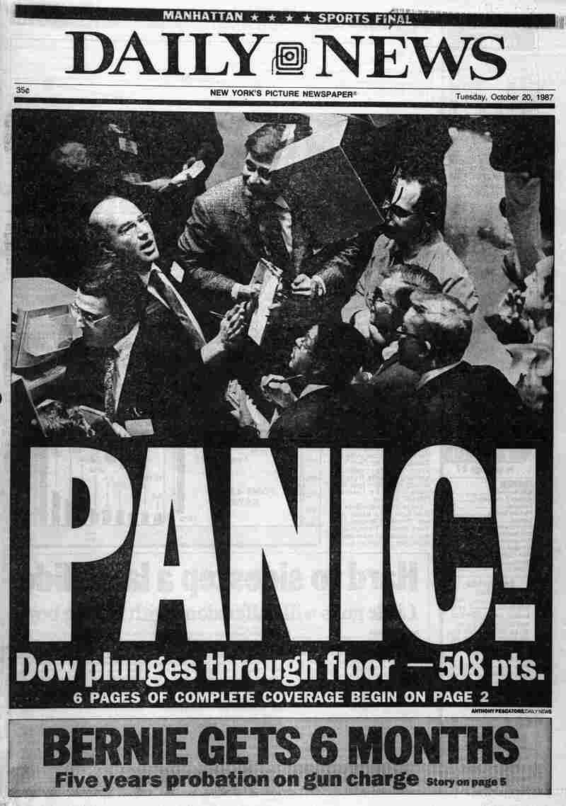 The Dow Jones industrial average dropped more than 500 points on Oct. 19, 1987, in the stock market crash known as Black Monday.