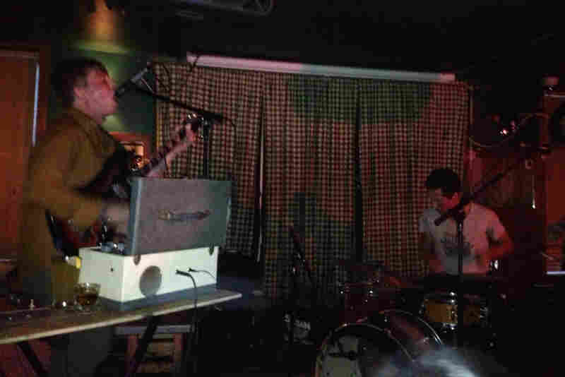 Justin Fowler and Dan Galucki of the Portland band Wooden Indian Burial Ground perform at Pianos during CMJ 2012.