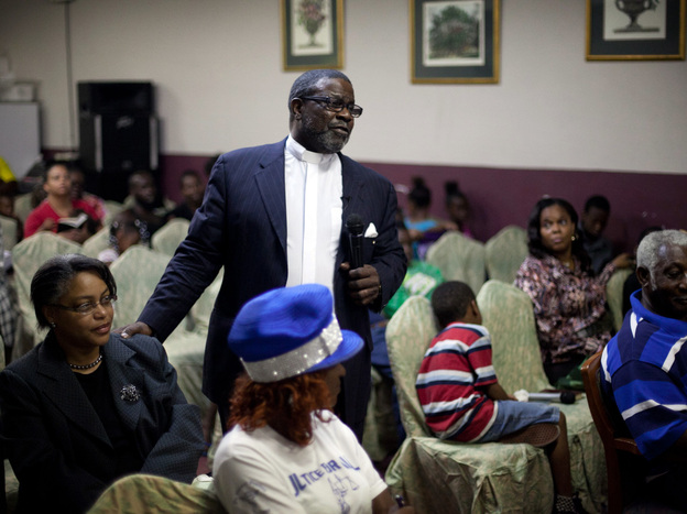 Eddie Walker, a pastor at In God's Time Tabernacle Church in Orlando, Fla., was once a crack addict. He says about 60 percent of his small congregation's members have lost their ability to vote.