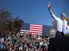 President Obama speaks at a rally Thursday in Manchester, N.H. Utah's Salt Lake Tribune on Friday endorsed Obama for president.