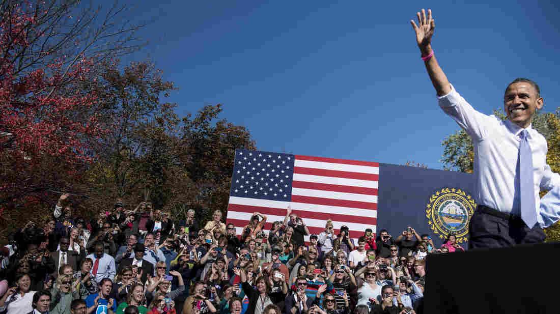 President Obama speaks at a rally Thursday in Manchester, N.H. Utah's Salt Lake Tribune on Friday endorsed Obama for president.