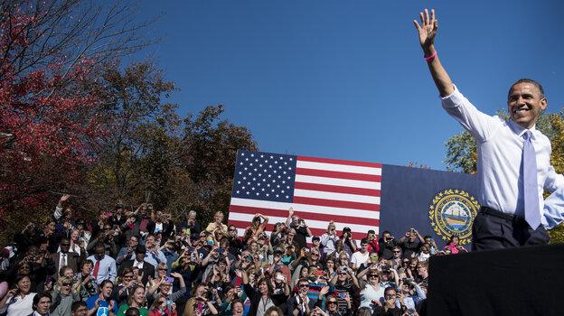 President Obama speaks at a rally Thursday in Manchester, N.H. Utah's Salt Lake Tribune on Friday end