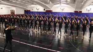 Linda Haberman (L), Director and Choreographer of the Radio City Christmas Spectacular directs The Rockettes at the 2012 Radio City Christmas Spectacular Rehearsals this week in New York.