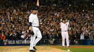 Phil Coke and Miguel Cabrera of the Detroit Tigers celebrate after beating the New York Yankees in the American League Championship Series. Through the power of modern technology, fans could experience the game even if they weren't in front of a television screen.