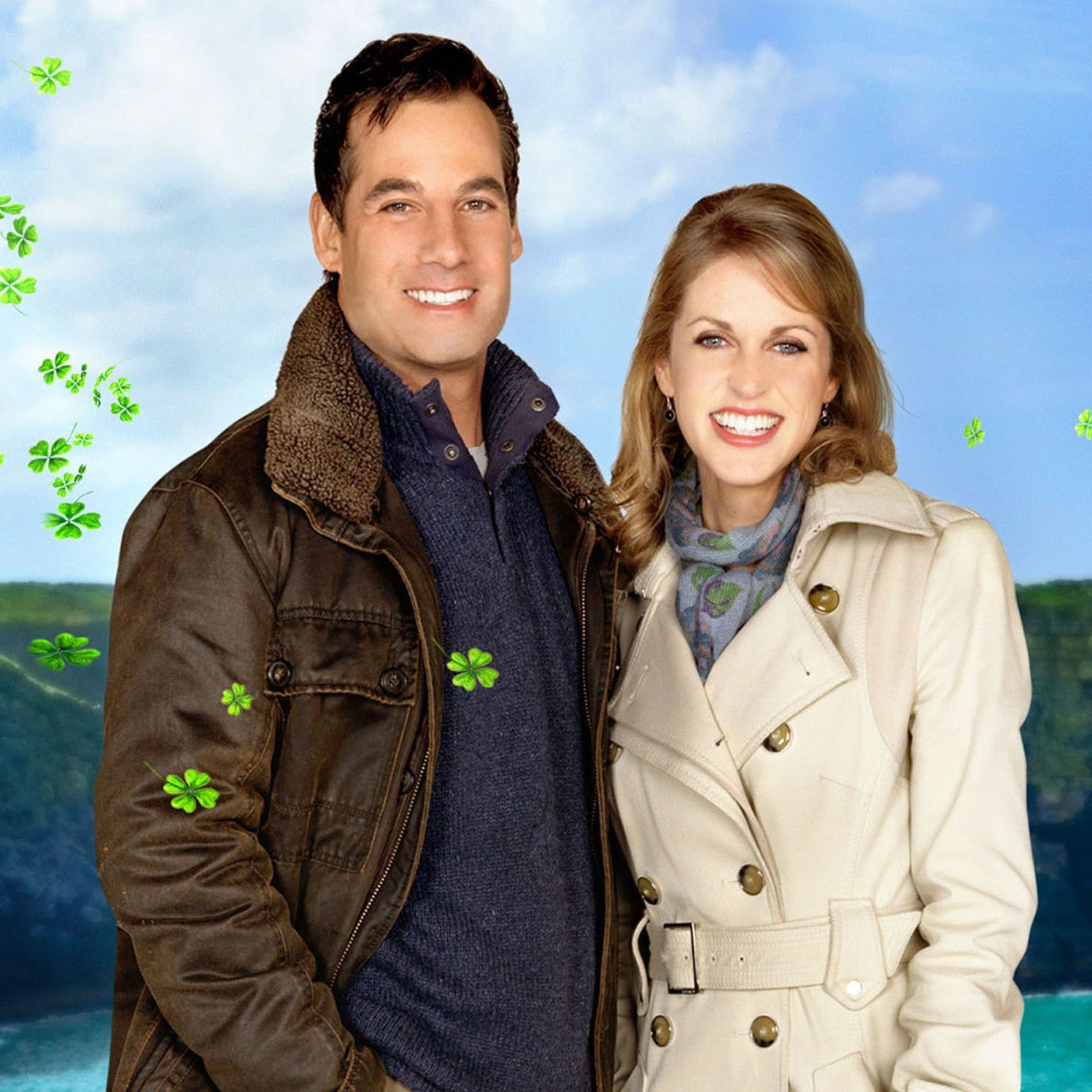Adrian Pasdar and Amy Huberman in Chasing Leprechauns.