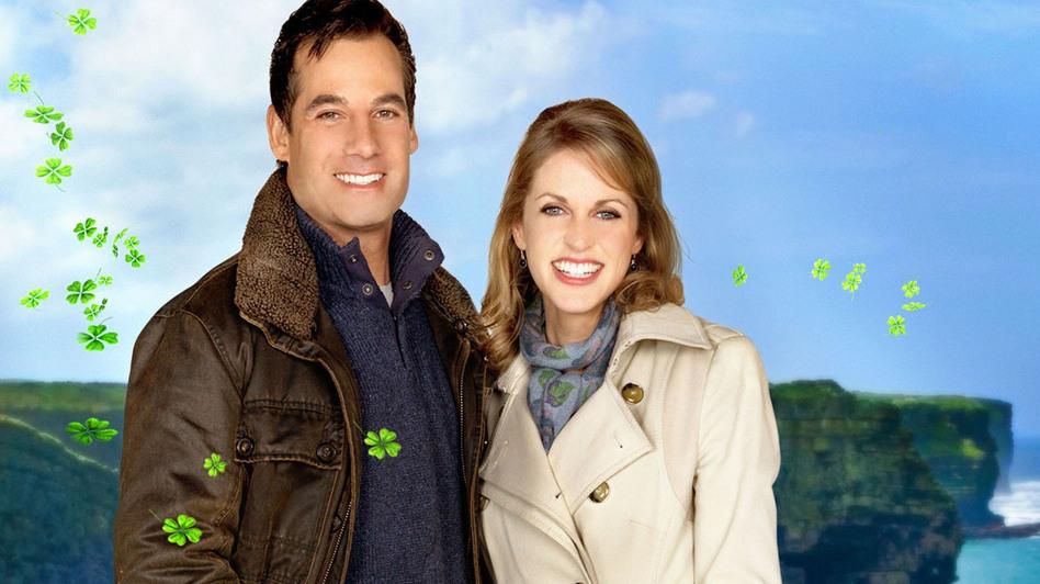 Adrian Pasdar and Amy Huberman in Chasing Leprechauns. (Hallmark Channel)