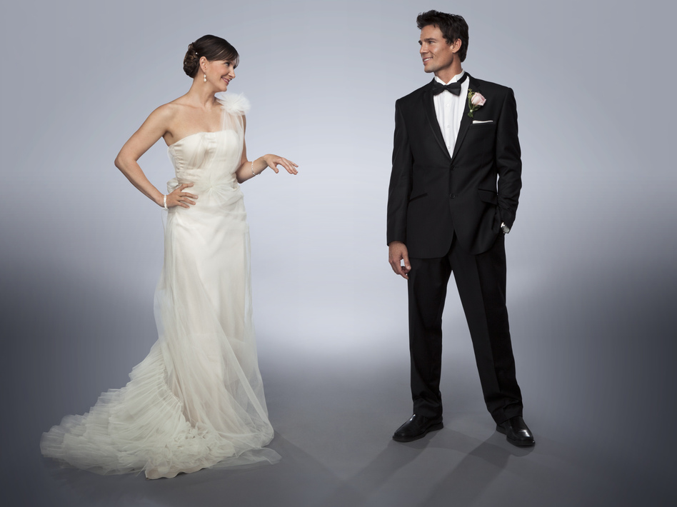 Kellie Martin and Ethan Erickson in <em>I Married Who?</em>