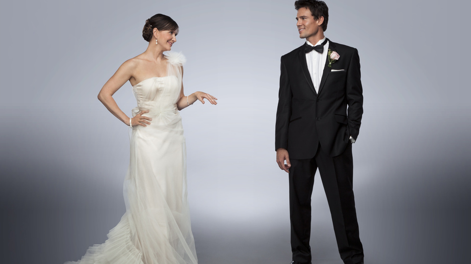 Kellie Martin and Ethan Erickson in I Married Who? (Hallmark Channel)