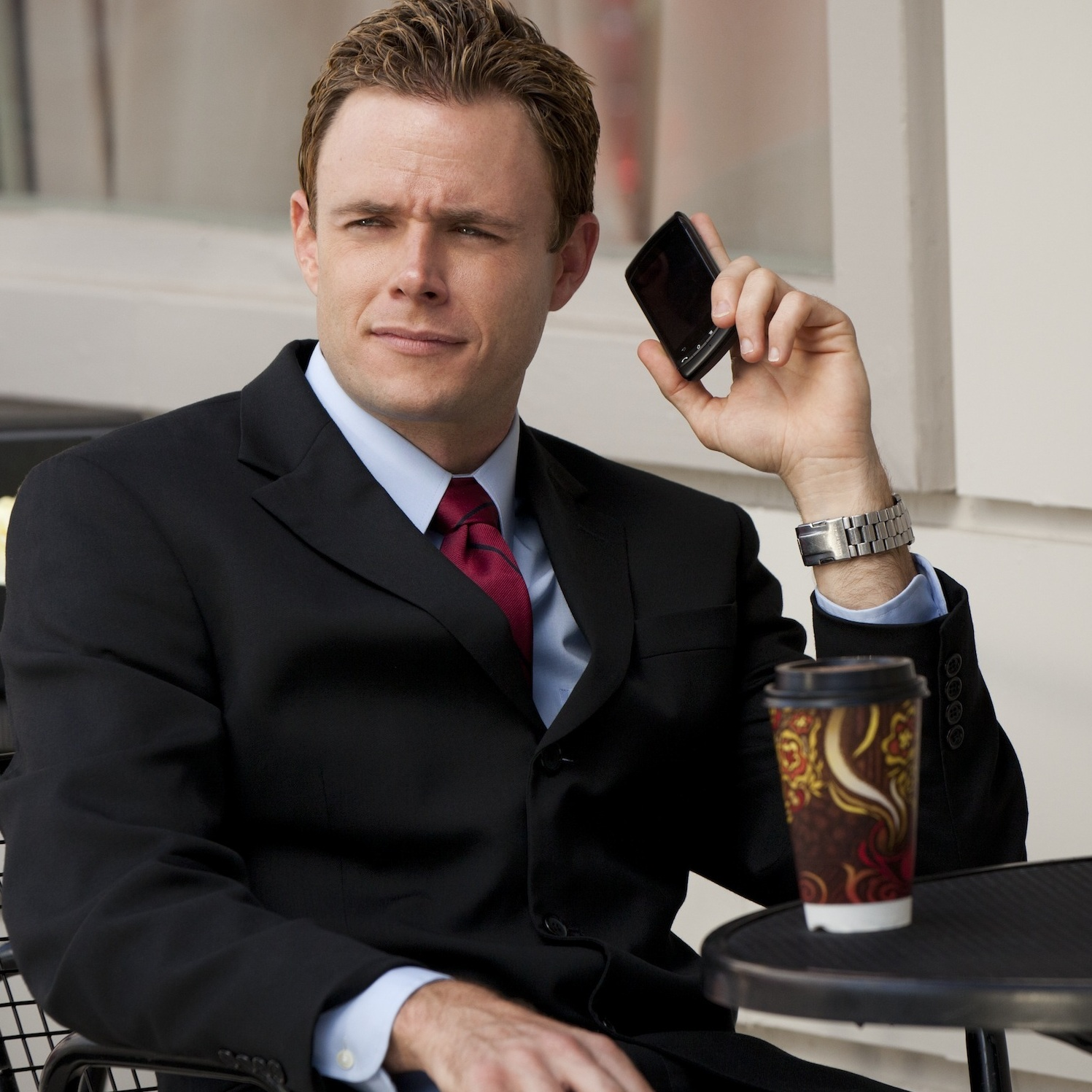 Bradley Snedeker is the actual name of this actor in I Married Who? He plays Kellie Martin's fiance. He is getting The Pullman, and you can tell from this photo. (See how he's on his phone all the time?)