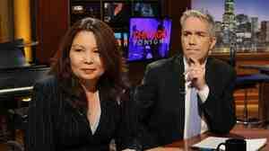 Congressman Joe Walsh (R-Ill.) right, and challenger Tammy Duckworth, left, at a televised debate at WTTW Chicago on Thursday, Oct. 18, 2012.