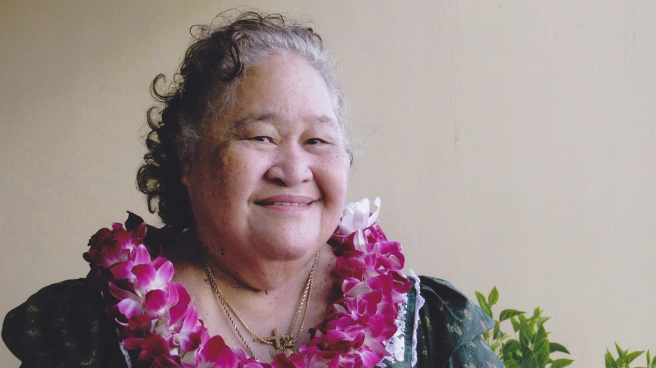 Gloria Marks, a Hansen's disease patient, has lived in Kalaupapa since 1960. (Heidi Chang for NPR)